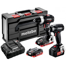 Metabo BS 18 LT BL SE + SSW 18 LTX 400 BL SE Aku Combo Set + MetaBox