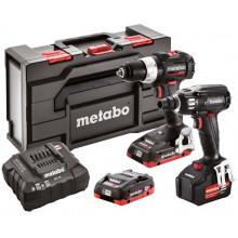 Metabo SB 18 LT BL SE + SSW 18 LTX 400 BL SE Aku Combo Set + MetaBox